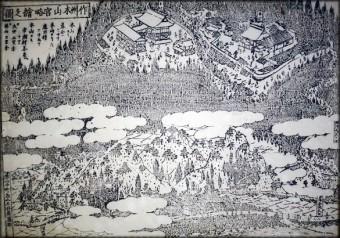 作州木山宮略絵之図